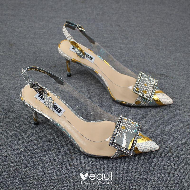 damskie sandały szpilka 7 cm