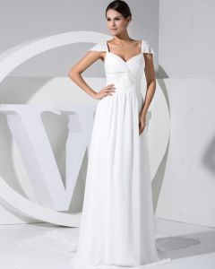 Sweetheart Sleeveless Zipper Floor Length Ruffle Chiffon Silk Woman Celebrity Dresses
