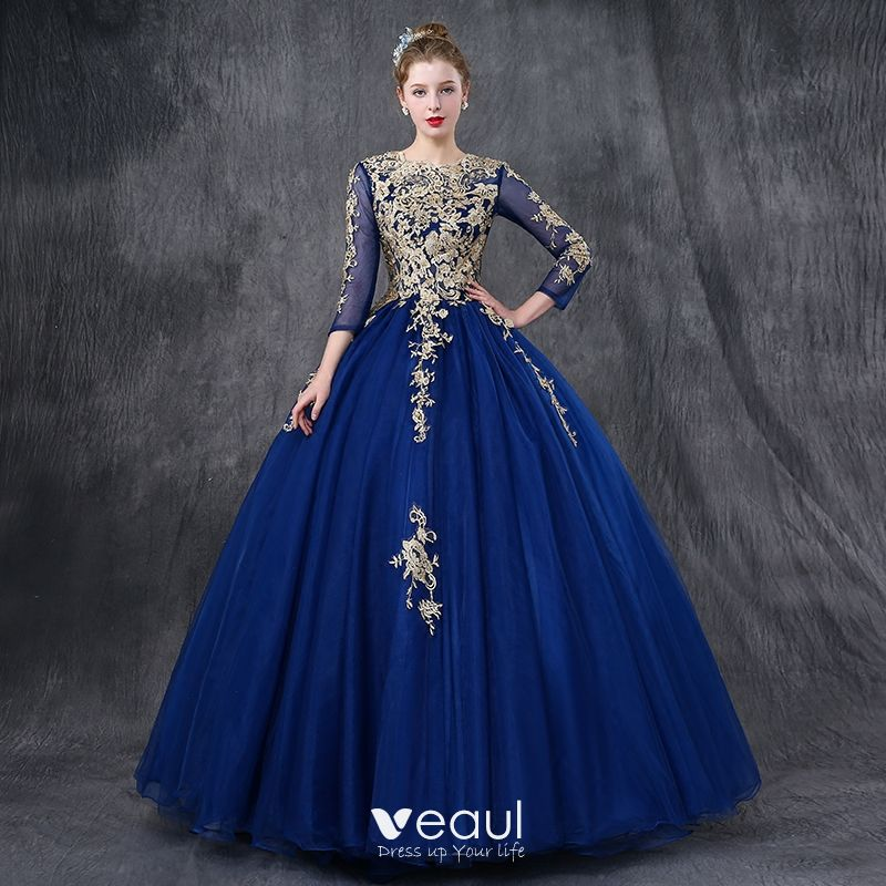 Chic / Beautiful Royal Blue Prom Dresses 2018 Ball Gown ...