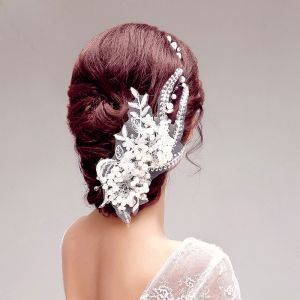 Sweet Lace Pearl Bridal Headpiece Hair Accessories / Wedding Jewelry