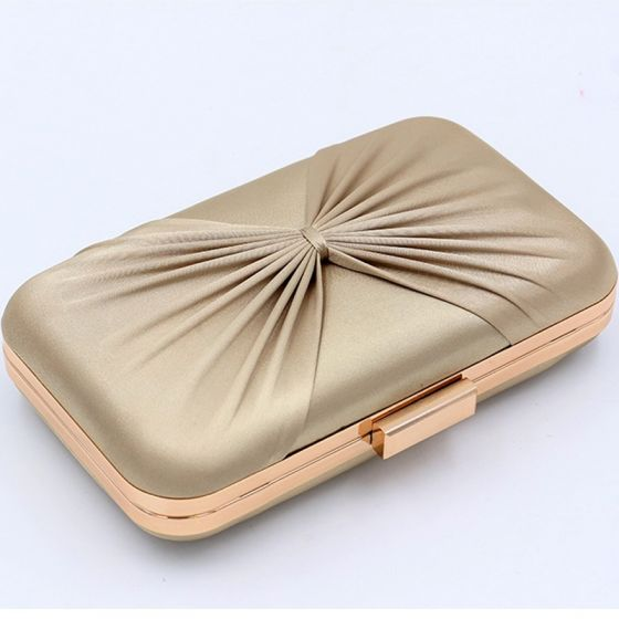 Modern / Fashion Champagne Striped Evening Party Clutch Bags 2018