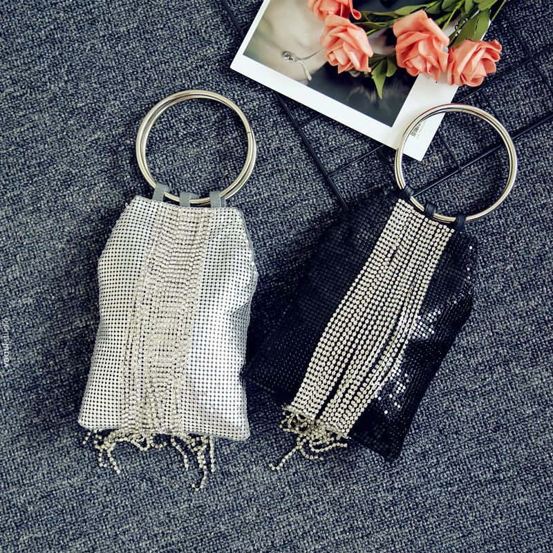 Modern / Fashion Tassel Metal Clutch Bags 2018