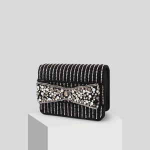 Mooie / Prachtige Zwarte Kralen Rhinestone Handtassen 2019