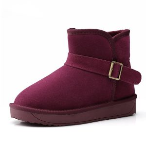 Fashion Womens Ankle Suede Snow Boots Winter Boots