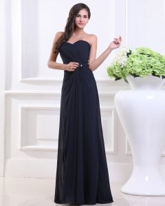 Sweetheart Pleated Floor Length Chiffon Woman Bridesmaid Dresses