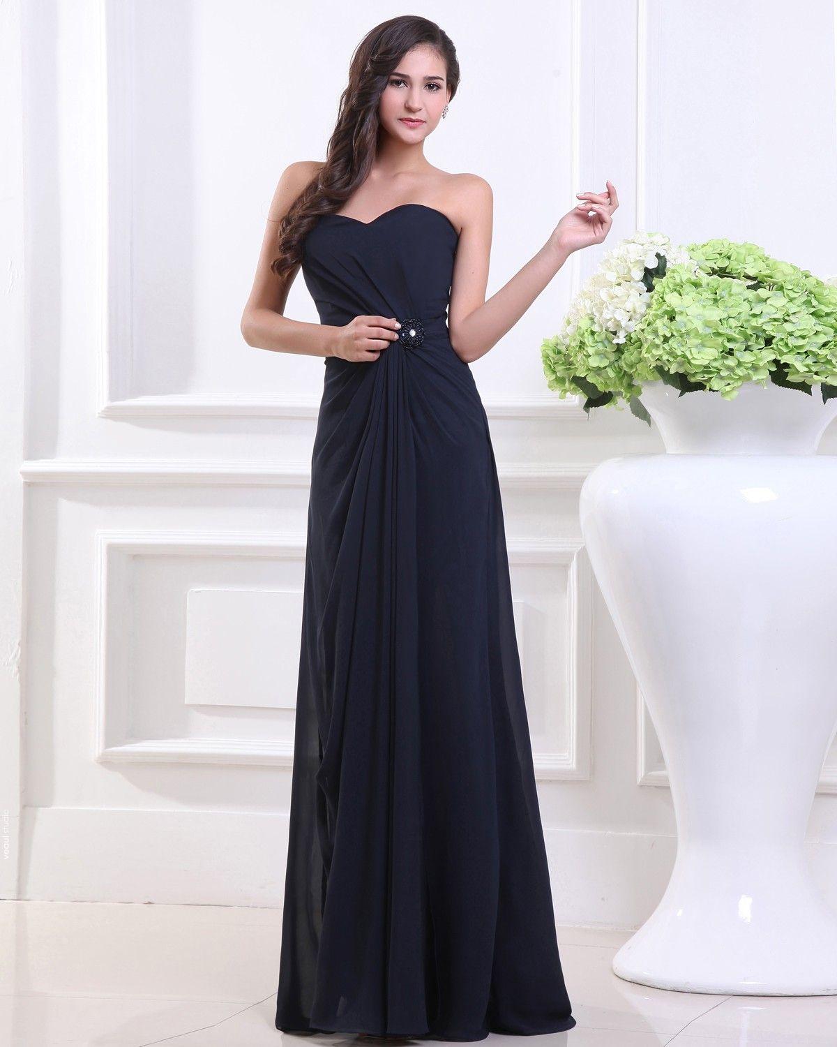Sweetheart Pleated Floor Length Chiffon Woman Bridesmaid Dresses