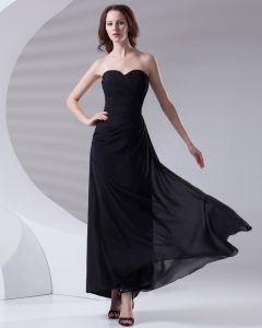 Fashion Sweetheart Neckline Ankle Length Ruffle Chiffon Bridesmaid Dress