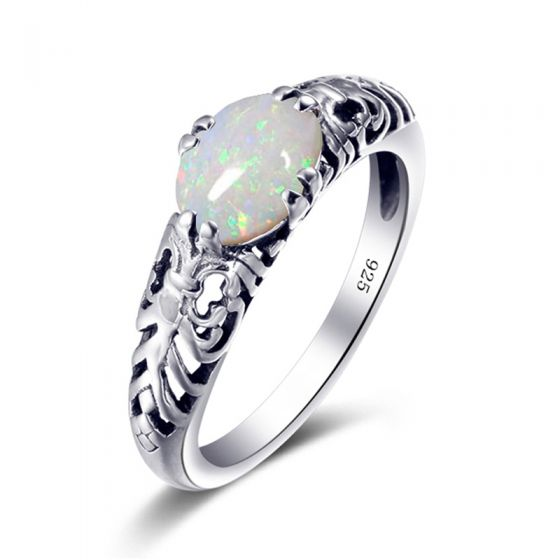 Classic Elegant Silver Flower Rings 2019 Crystal Moon Silver Plated Church Accessories Ring
