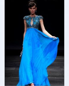 Jewel Floor-length Chiffon Evening Dress