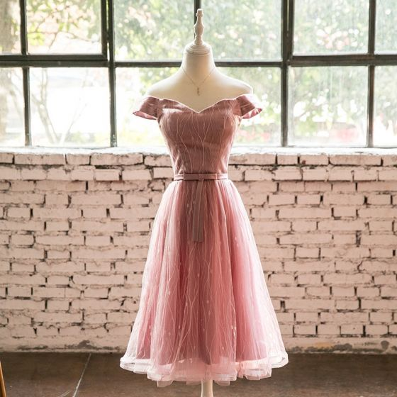 Kleid festlich knielang rosa - Modische Damenkleider