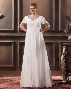 V Balayage De Cou Plus La Taille Robe De Mariage Nuptiale Robe
