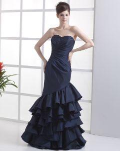 Junon Vogue Taffetas De Robe De Bal Celebrites Bretelles Parole Longueur