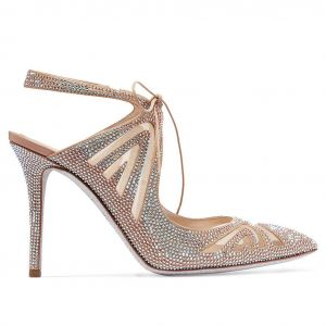 Sexy Multi-Colors Evening Party Womens Sandals 2020 Leather Rhinestone 8 cm Stiletto Heels Pointed Toe Sandals