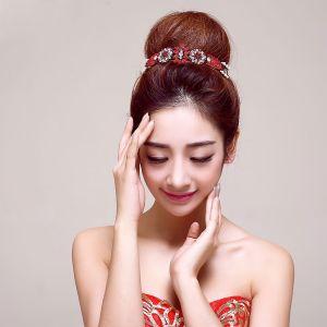 Rote Diamant Braut Kopfstück / Kopf Blume / Haarschmuck Braut / Hochzeitsschmuck