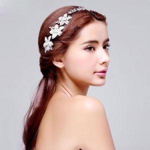 Eenvoudige Imitatie Parel Bruids Hoofdtooi / Head Bloem / Bruiloft Haar Accessoires / Bruiloft Sieraden