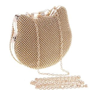 Lovely Gold Rhinestone Clutch Bags 2020