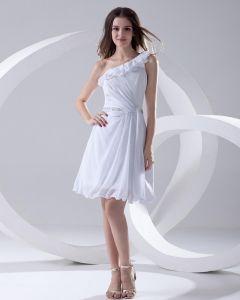 Dekolt Długosc Rekawow Uda Pochyla Linke Szyfon Kobieta Plisowane Tanie Sukienki Koktajlowe Sukienki Wizytowe
