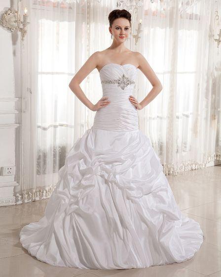 Rüsche Perlen Schatz Gericht Reich Brautkleider Hochzeitskleid