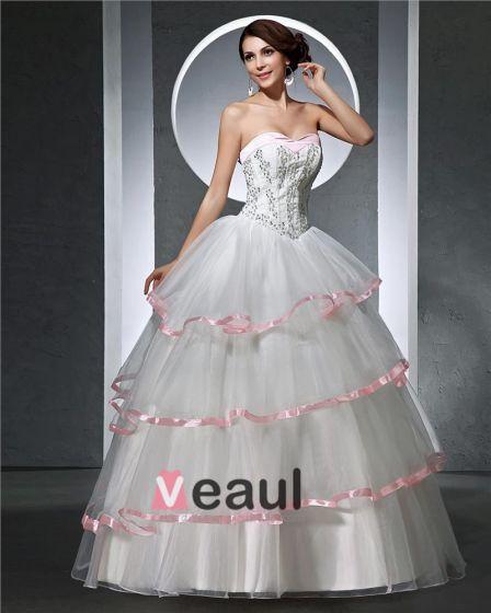 Kochanie Linke Plisowana Satyna Długosc Podlogi Tiul Kobieta Uprawia Pilke Suknia Balowa Suknie Ślubne Sukienki Ślubne