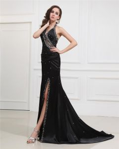 Sweetheart Halter Floor-Length Evening Dresses NSE-012