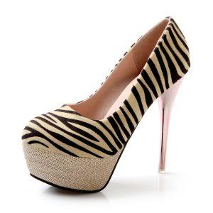 Chaussures Sexy Léopard Des Femmes Des Escarpins Talons Aiguilles Talon