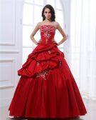 Ball Gown Satin Embroidery Ruffle Beading Women Quinceanera Prom Dresses