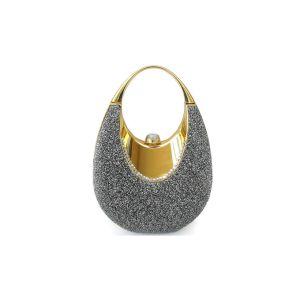 Kenmerkt Retro Draagbare Kleine Tas Nieuwe Elegante Metalen Mini Zak