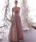 Charming Pearl Pink Starry Sky Evening Dresses  2019 A-Line / Princess Sleeveless Glitter Satin Spaghetti Straps Backless Floor-Length / Long Formal Dresses