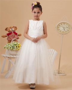 Beautiful Floor-length Taffeta Organza Flower Girls' Dress