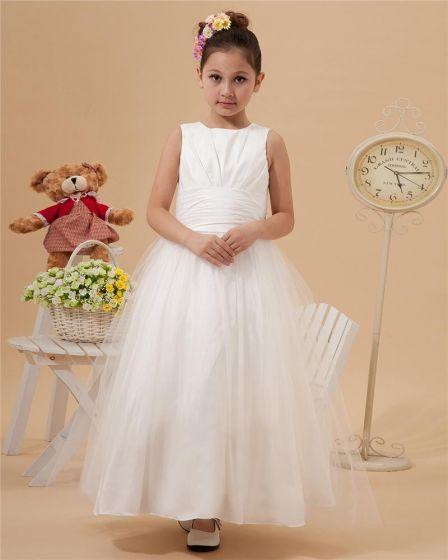 Beautiful Floor-length Taffeta Organza Flower Girls' Dress