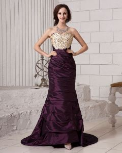 Ruffle Embroidery Beading Sweetheart Neckline Satin Women Prom Dress