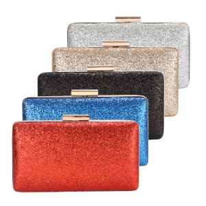 Fashion Glitter Square Clutch Bags 2020