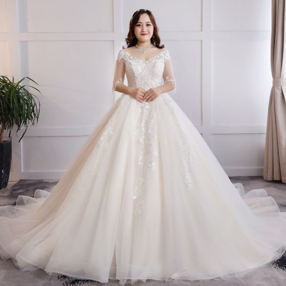 52b4acb61e2 modest-simple-champagne-plus-size-ball-gown-wedding-shoes-2019-tulle-v-neck -appliques-backless-lace-handmade-chapel-train-wedding-560x560.jpg