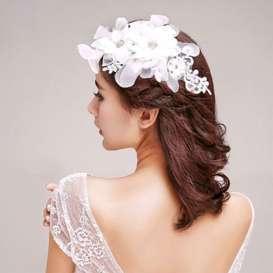 Lace Handmade Bridal Headpieces /Head Flower / Wedding Hair Accessories / Wedding Jewelry