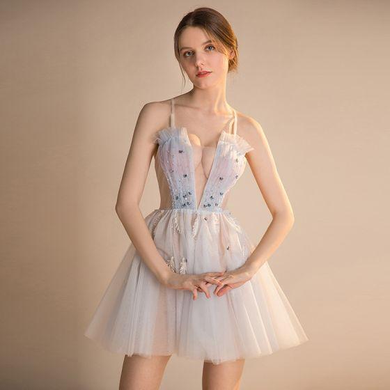 Vestidos de fiesta cortos transparentes