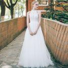 Chic / Beautiful Ivory Beach Wedding Dresses 2018 A-Line / Princess Lace Shoulders Sleeveless Floor-Length / Long Wedding