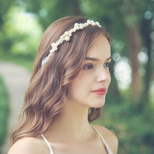 Elegant Gold Headpieces Bridal Hair Accessories 2020 Metal Pearl Wedding Accessories