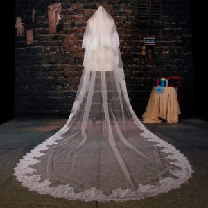 175cm Lang Tailing Spitzenschleier Weichen Brautschleier