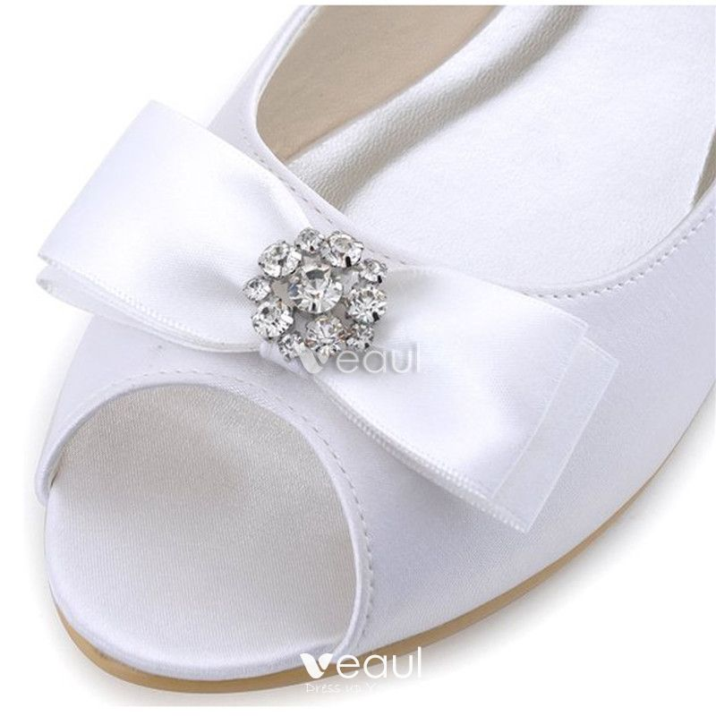 Vintage Champagne Bridal Shoes Flat Wedding Pumps With