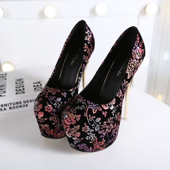 Chic / Beautiful Multi-Colors 2018 Appliques Beading Rhinestone Evening Party Womens Shoes