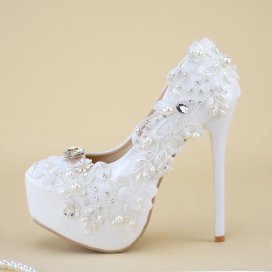 Beautiful White Wedding Shoes 2019
