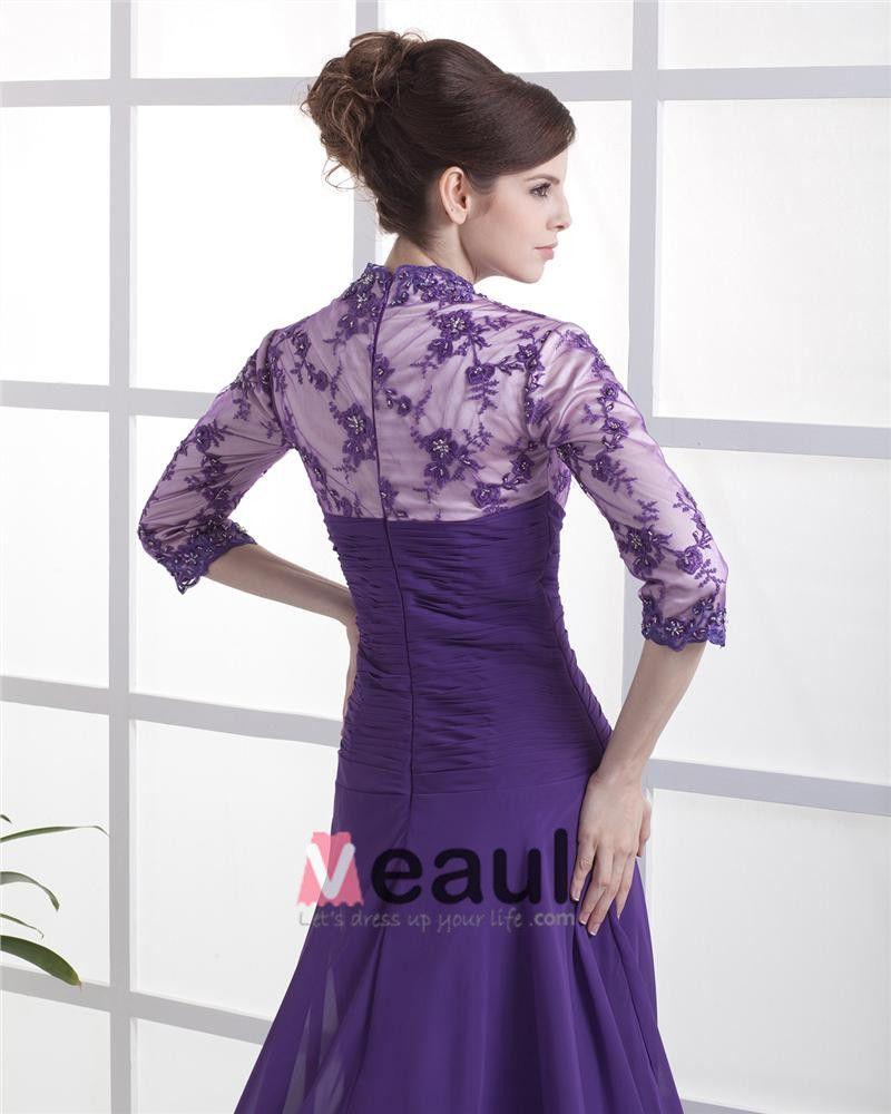 A-Line V-Neck Chiffon Ruffles Floor Length Mothers Of The Bridal Dresses