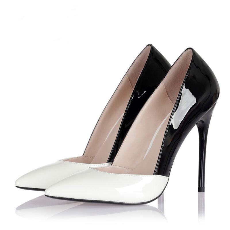 Chic / Beautiful 2017 10 cm / 4 inch Beige Red White Casual PU Summer High Heels Stiletto Heels Pumps