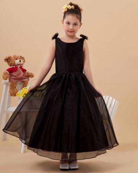 Organza Satin Ball Gown Handmade Flower Girl Dresses