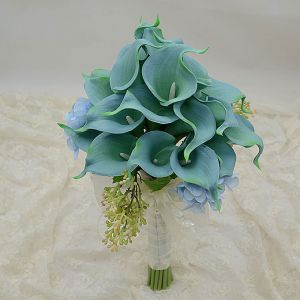Simulation Artificial Silk Flower Smaids Calla Flower Girl Or Bridal Bouquets Holding Wedding Flowers