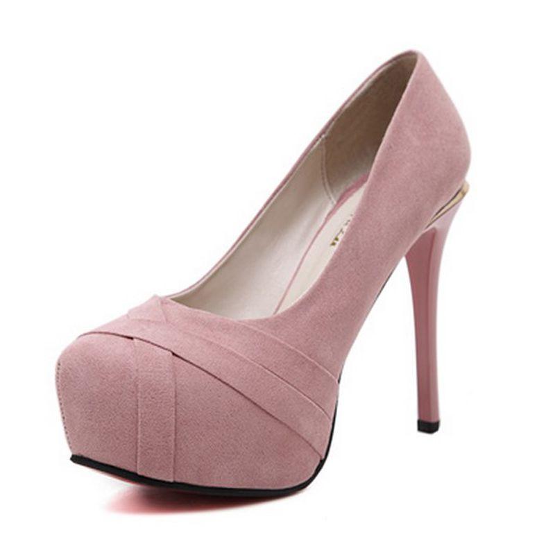 Chic / Beautiful Prom Pumps 2017 Leather Braid Platform High Heel Round Toe