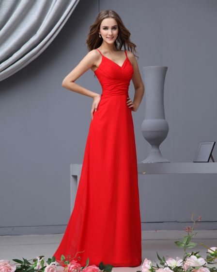 Empire Sweetheart Floor Length Chiffon Bridesmaid Dress