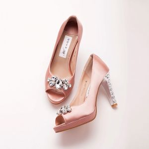 Waterproof Peep Toe Bridal Shoes / Wedding Shoes / Woman Shoes