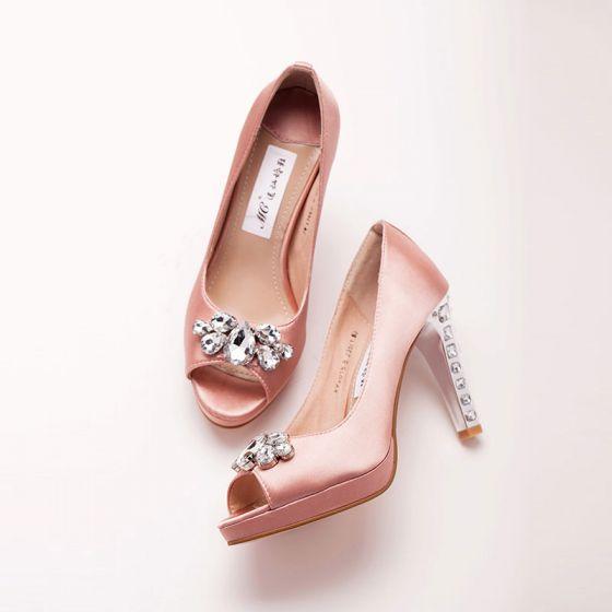 Waterproof Peep Toe Bridal Shoes / Wedding Shoes / Woman Shoes