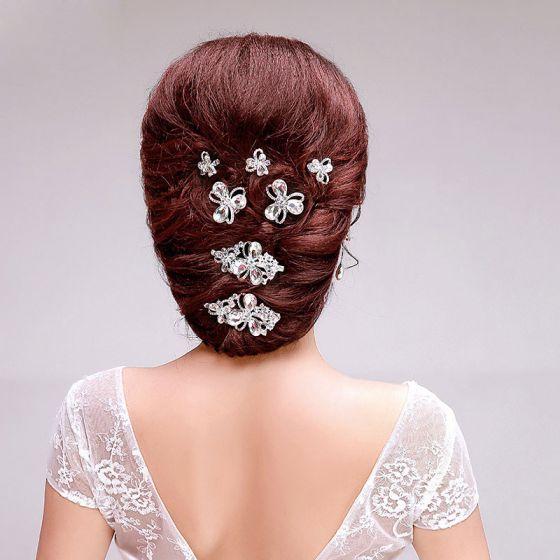Mode Süße Rhinestone Brautoberteile Hochzeit Haarschmuck Schmuck